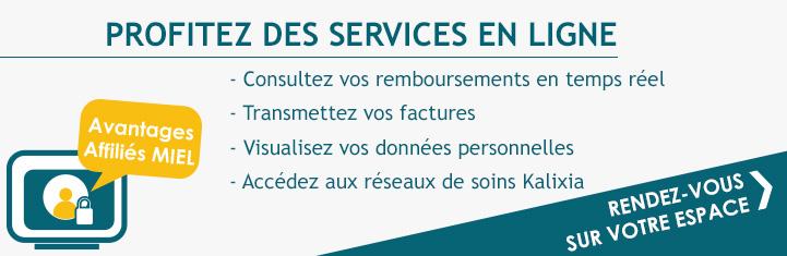 Les services en ligne dédiés aux affiliés MIEL